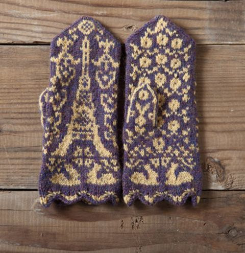 Printemps Parisen Mittens Pattern Knitting Patterns And Crochet