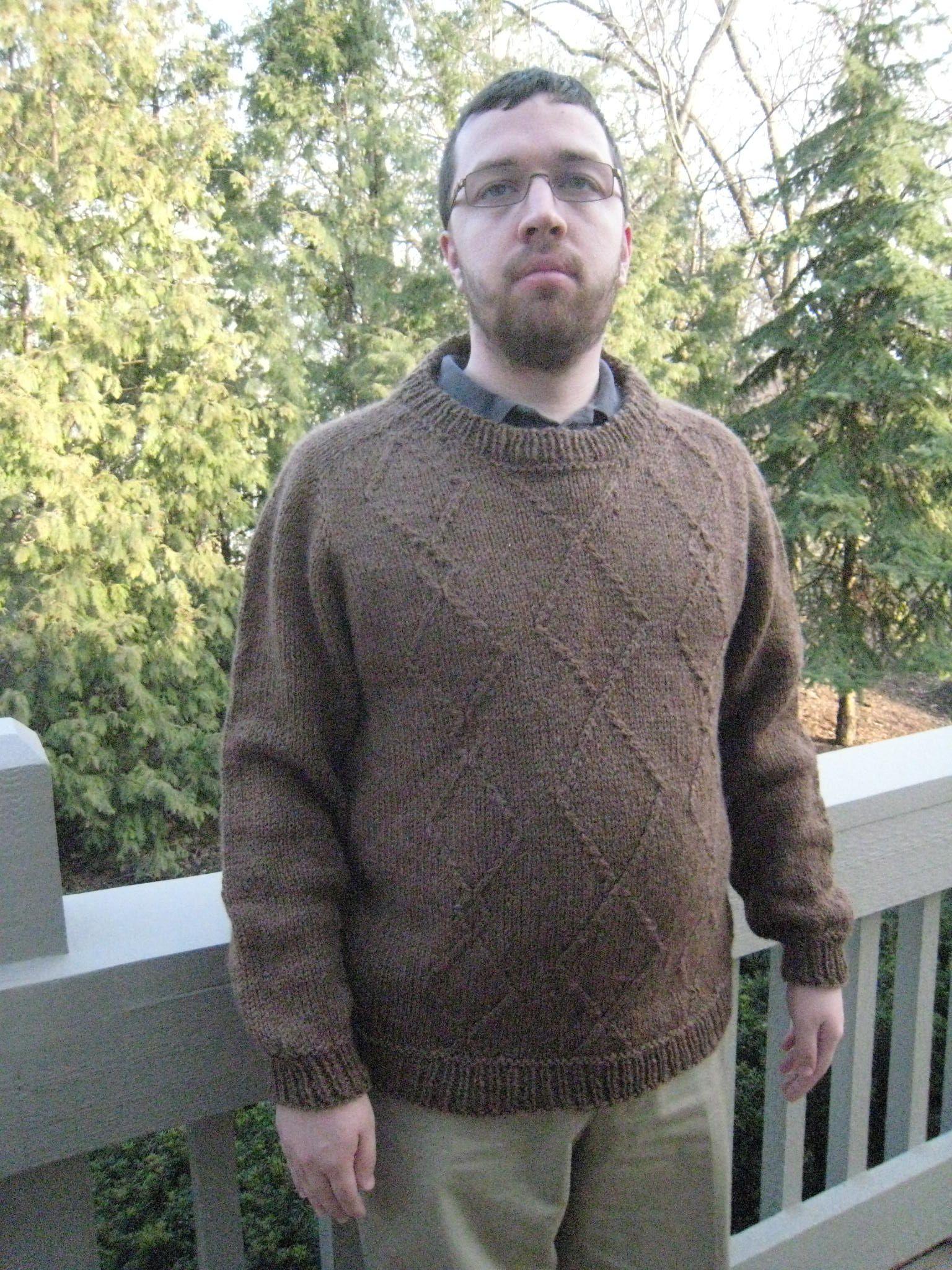 Diamond Jim Sweater Pattern - Knitting Patterns and Crochet Patterns ...