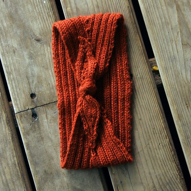 Wrap And Tie Headband Pattern Knitting Patterns And Crochet