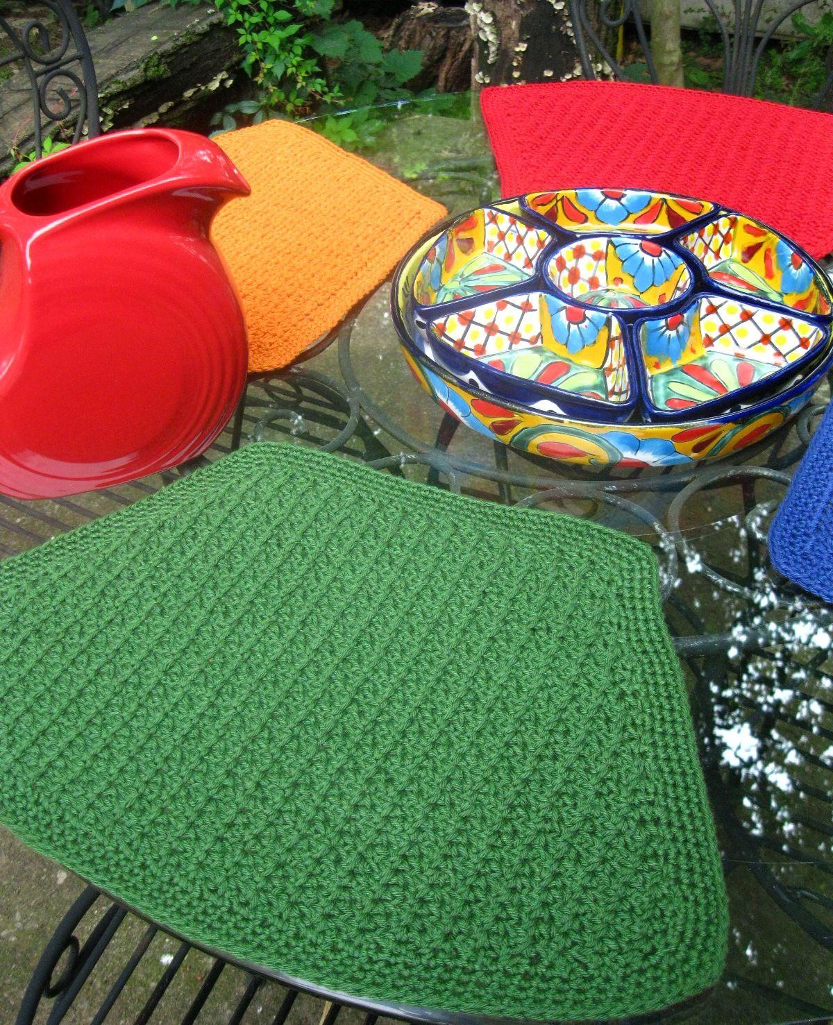 Mesa De Fiesta Placemats Pattern Knitting Patterns And Crochet