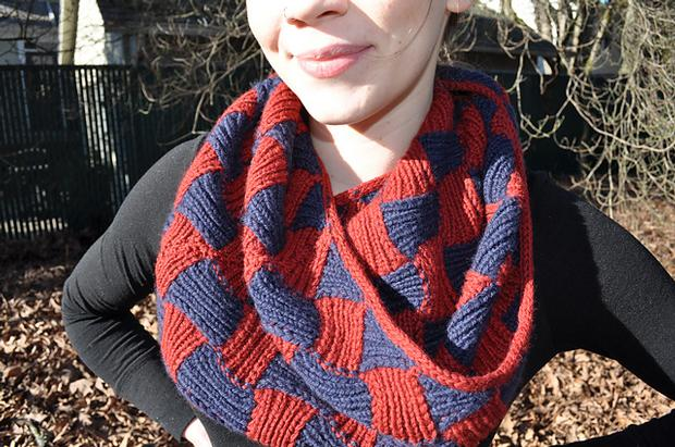 Aunties Entrelac Scarf Knitting Patterns And Crochet Patterns