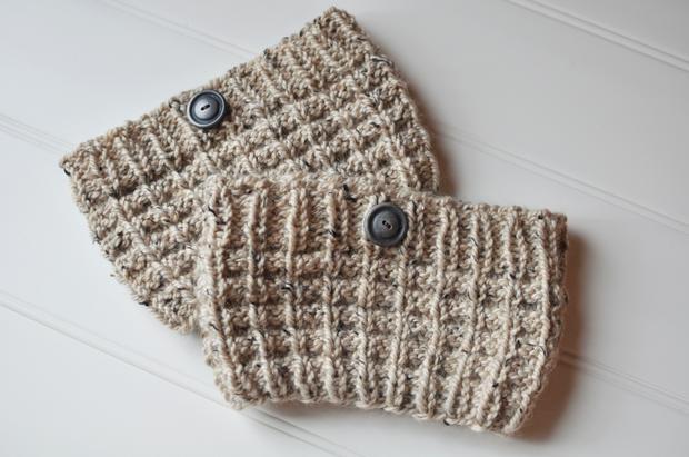 Waffle Knit Boot Cuffs Knitting Patterns And Crochet Patterns From