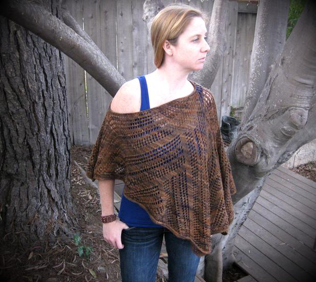 Zoe Lace Poncho - Knitting Patterns and Crochet Patterns from KnitPicks.com