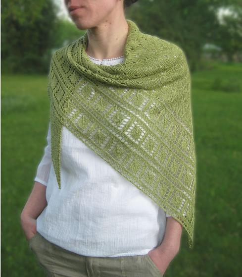 Leaf Garland Shawl Knitting Patterns And Crochet Patterns From