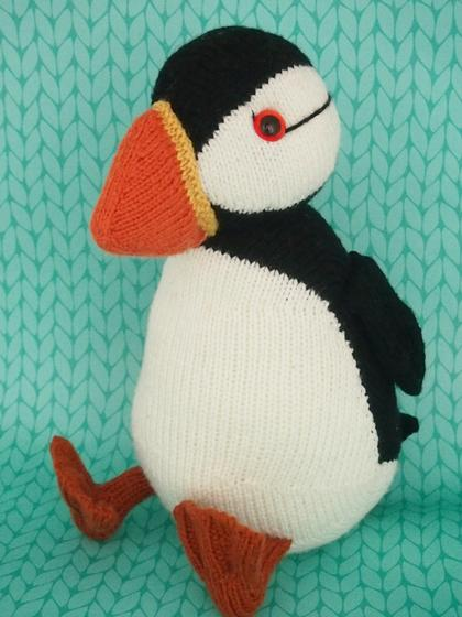Jamie The Puffin Knitting Patterns And Crochet Patterns From