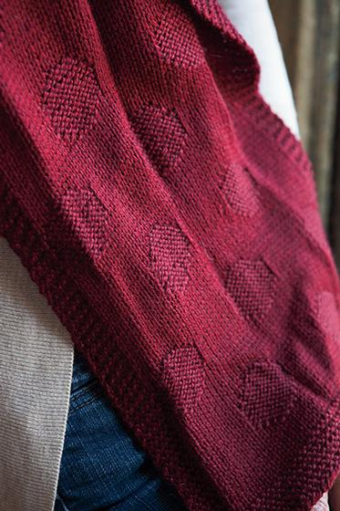 Circle Gets the Square Scarf - Knitting Patterns and Crochet Patterns from Kn...