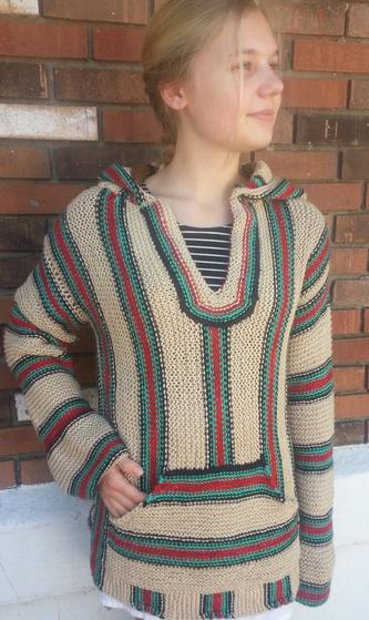 Retro Hippie Hoodie Knitting Patterns And Crochet