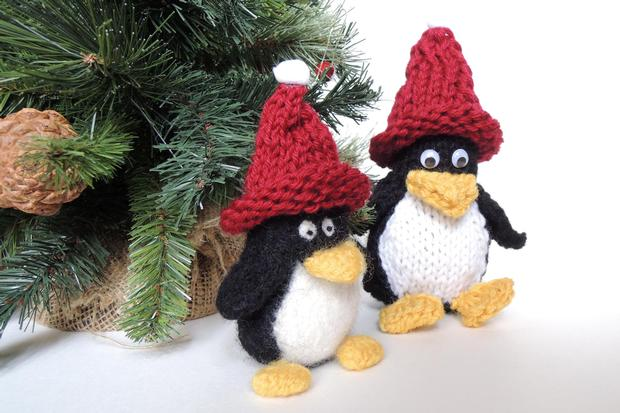 Tux The Mini Penguin Knitting Patterns And Crochet Patterns From
