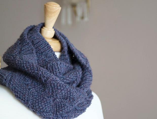 Finial Reversible Cowl Infinity Scarf Knitting Patterns And