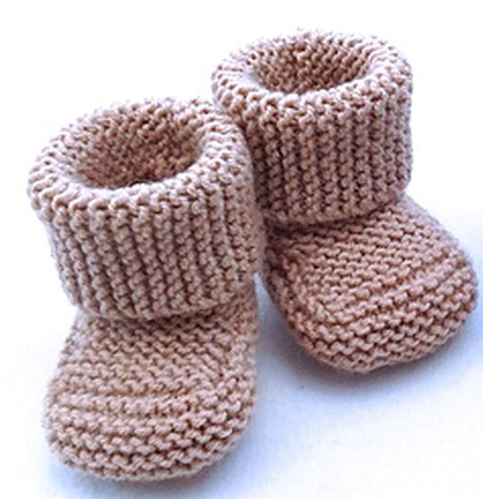 Baby Booties Knitting Pattern Straight Needles