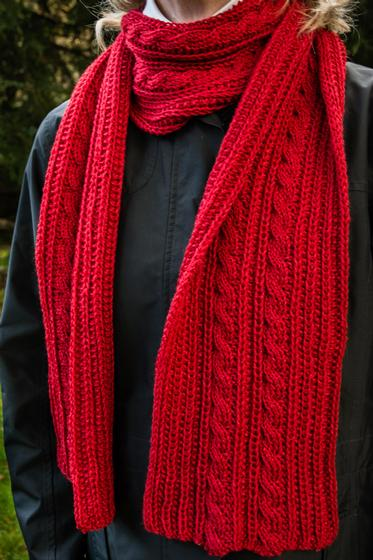 Reversible Cable Scarf - Knitting Patterns and Crochet ...
