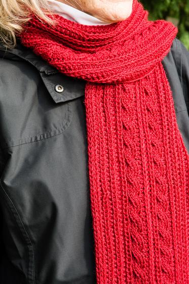 Cable Scarf Knitting Pattern : Reversible Cable Scarf - Knitting Patterns and Crochet Patterns from KnitPick...
