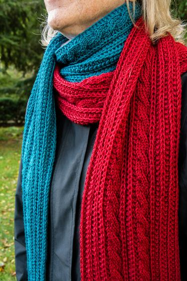 Reversible Cable Scarf - Knitting Patterns and Crochet Patterns from KnitPick...
