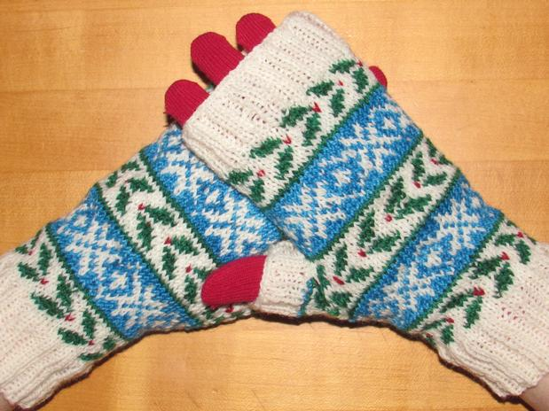 Deck The Halls 2014 The Fingerless Mitts Knitting Patterns And