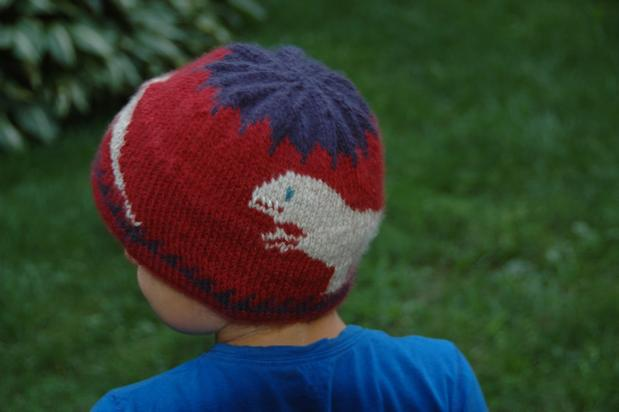 Extra Warm T Rex Dinosaur Hat For Kids Knitting Patterns And