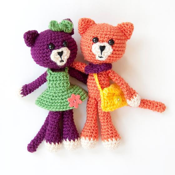 Amigurumi Big Bear : Amigurumi Pals: Bear, Bunny & Kitty - Knitting Patterns ...