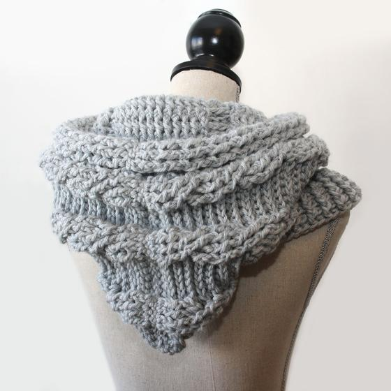 51 Degrees North Crochet Hooded Cowl