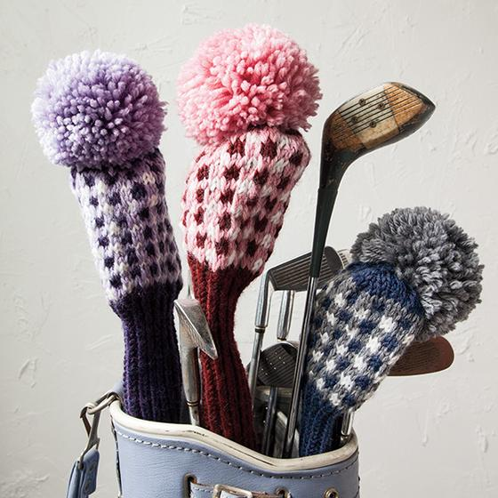 Gingham Check Golf Club Cover - Knitting Patterns and ...