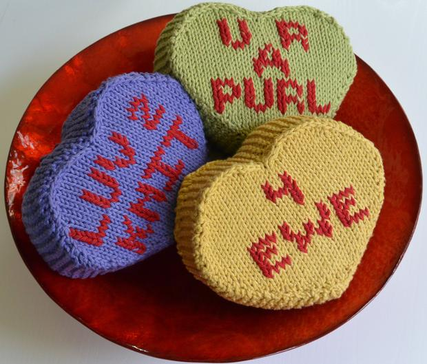 Candy Hearts Knitting Patterns And Crochet Patterns From Knitpicks