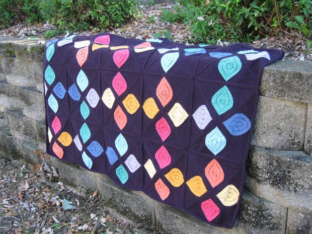 Stained Glass Afghan Knitting Patterns And Crochet Patterns From