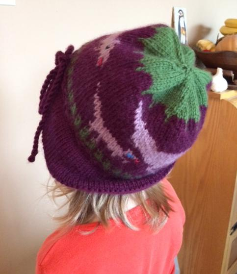 Mother Baby Dinosaur Floppy Brimmed Hat Knitting Patterns And