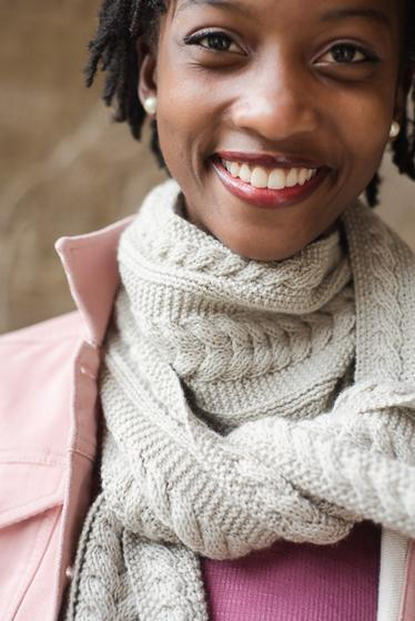 Aran Reversible Scarf Knitting Patterns And Crochet Patterns From