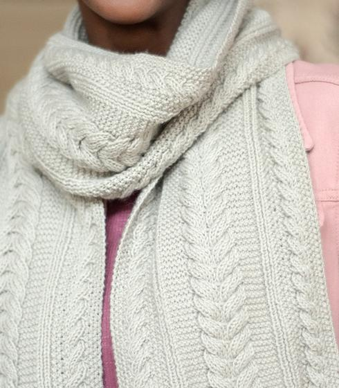 Aran Reversible Scarf - Knitting Patterns and Crochet ...
