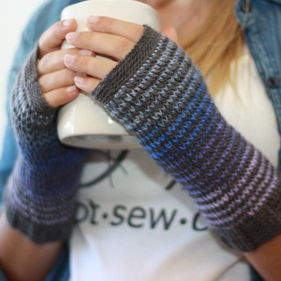 Kaleidoscope Fingerless Mitts - Knitting Patterns and Crochet ...