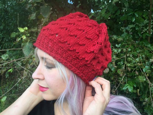 Strawberry Beret Knitting Patterns And Crochet Patterns From