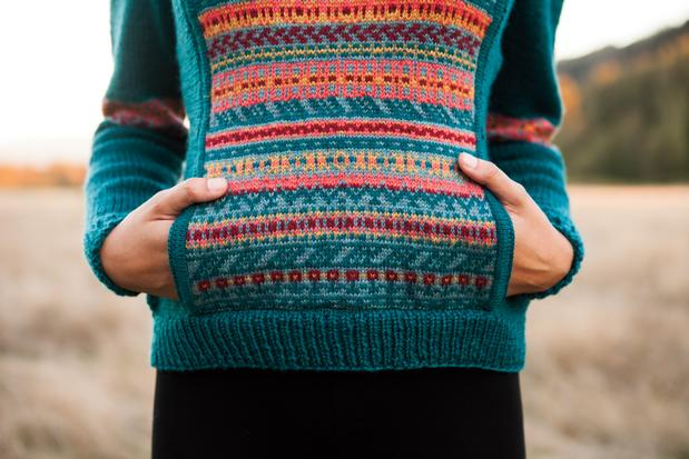 Flower Medley Hoodie Knitting Patterns And Crochet Patterns From