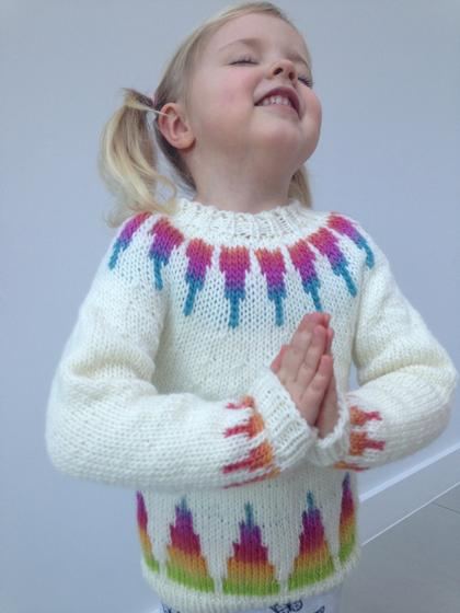 dbc3d4288af28a Rainbow Spikes Children s Sweater - Knitting Patterns and Crochet Patterns  from KnitPicks.com