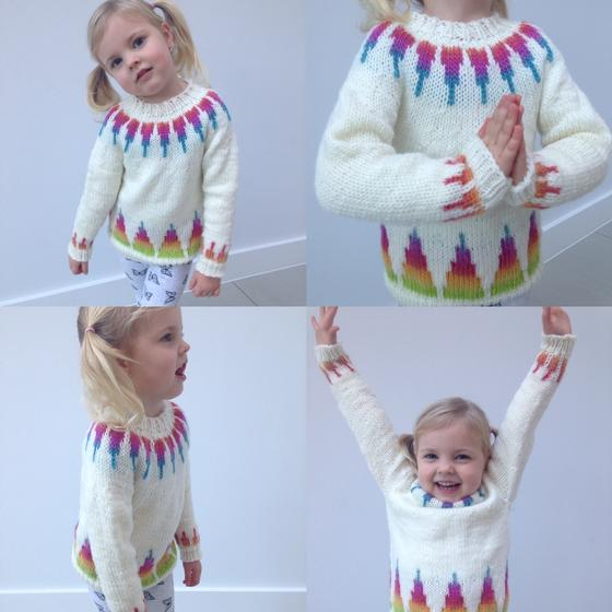 6f07cbb8a38eea Rainbow Spikes Children s Sweater - Knitting Patterns and Crochet ...