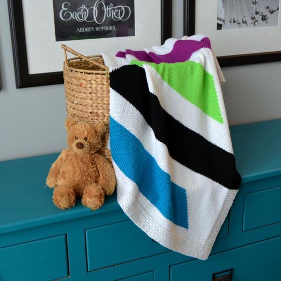 Modern Stripes Baby Blanket Knitting Patterns And Crochet Patterns