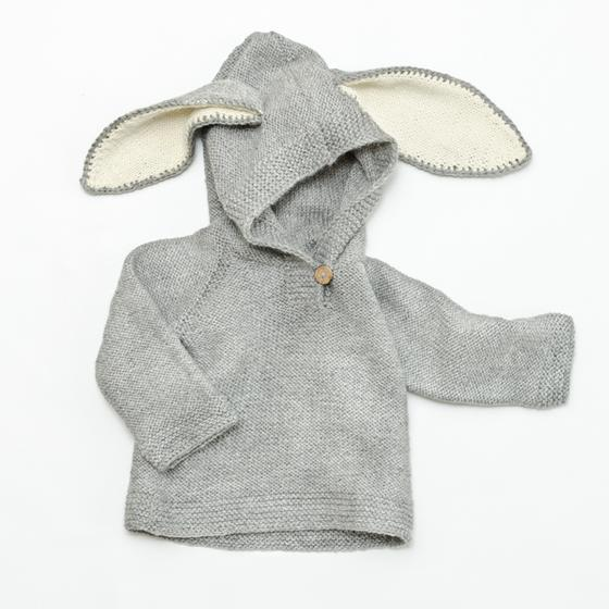 Bunny Ears Hoodie - Knitting Patterns and Crochet Patterns from ...