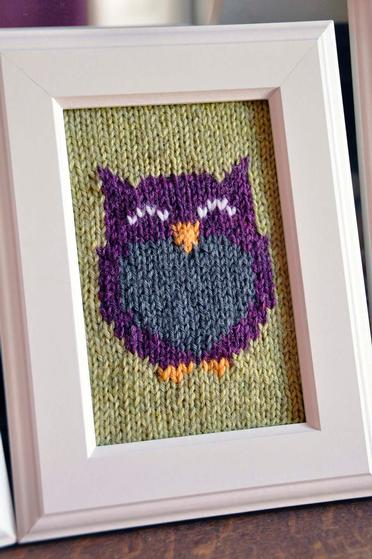Owl Friends Knitted Wall Art Knitting Patterns And Crochet