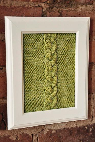 Cable Panels Knitted Wall Art - Knitting Patterns and Crochet ...