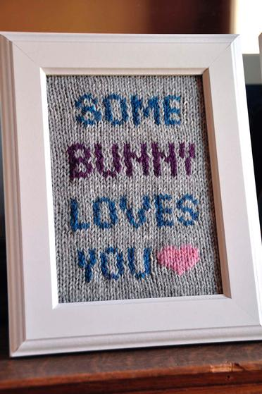 Some Bunny Loves Me Knitted Wall Art Knitting Patterns