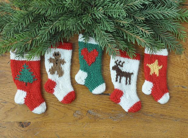 Whimsical Holiday Christmas Stocking Ornaments Knitting Patterns