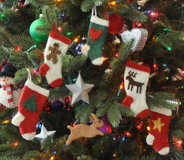 Whimsical Holiday Christmas Stocking Ornaments Knitting Patterns