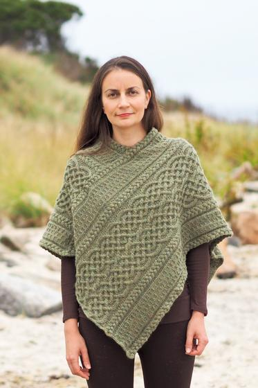 Portree Poncho Knitting Patterns And Crochet Patterns From