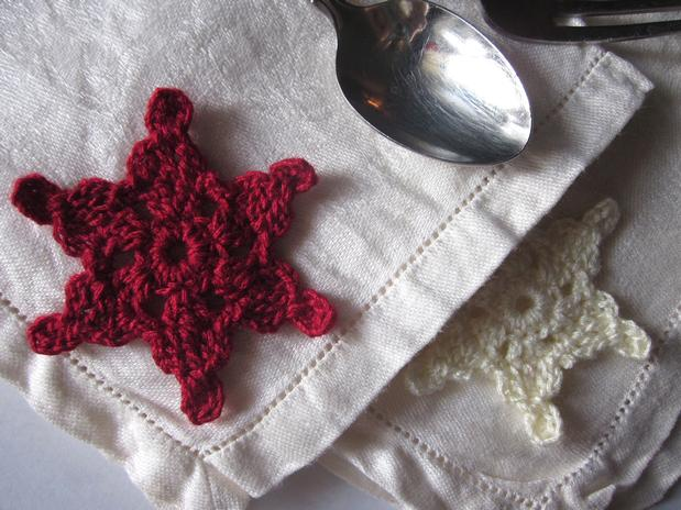 Snowflakes Stars Applique And Bangle Ornaments Knitting Patterns