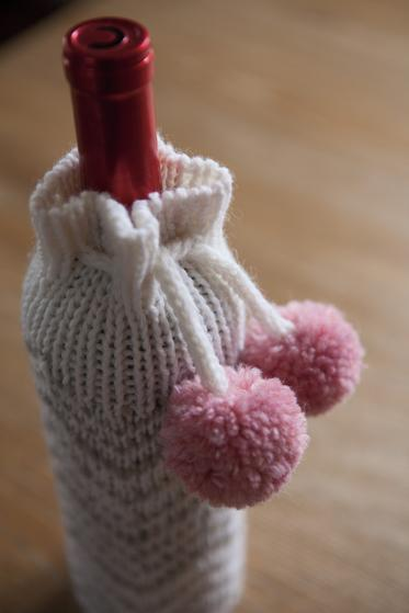 Chevron Wine Bottle Cozy Knitting Patterns And Crochet Patterns