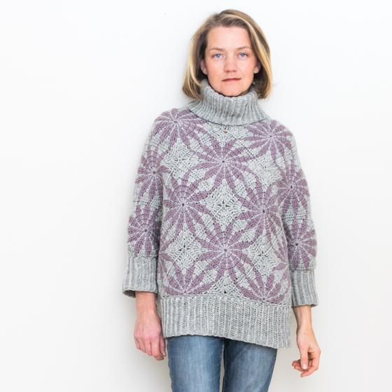 Morning Star Poncho Sweater - Knitting Patterns and Crochet Patterns ...