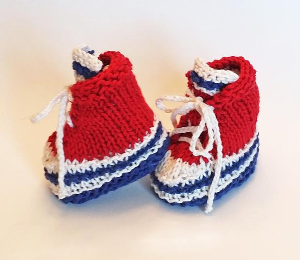 Baby High-Top Sneaker Booties - Knitting Patterns and Crochet ...