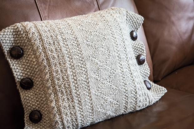 Guernsey Cushions Knitting Patterns And Crochet Patterns From