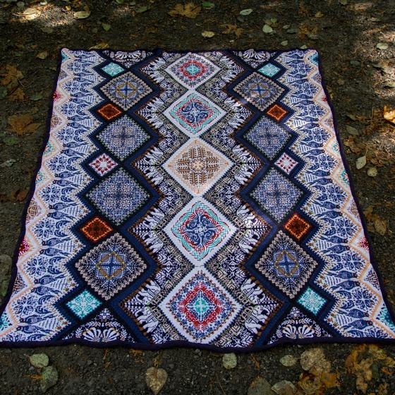 Indian Nights Blanket Pattern Knitting Patterns And Crochet