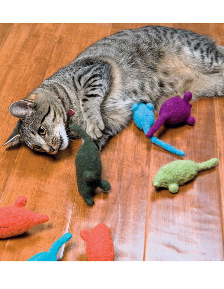 Felted Catnip Mice Pattern Knitting Patterns And Crochet
