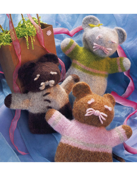Felted Friends Hand Puppet Pattern Knitting Patterns And Crochet