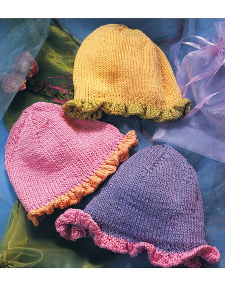 Ruffled Edge Hat Pattern Knitting Patterns And Crochet Patterns