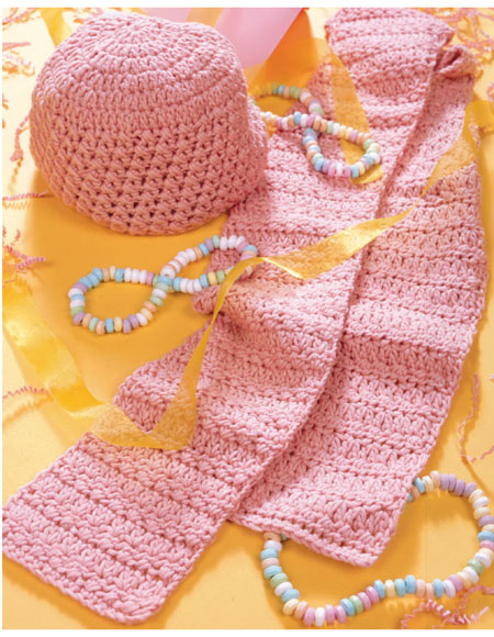 Pretty In Pink Hat Scarf Pattern Knitting Patterns And Crochet